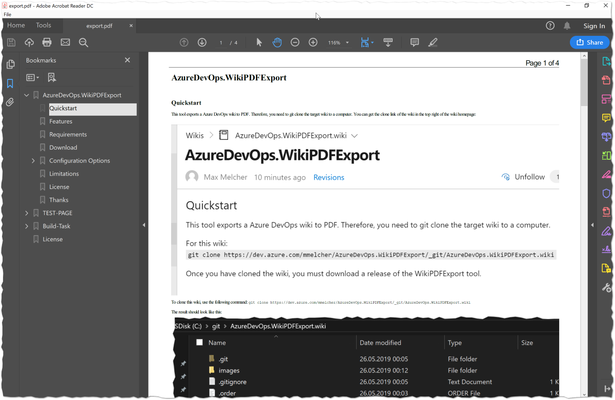 Azure DevOps: Export Wiki as PDF - Melcher dev