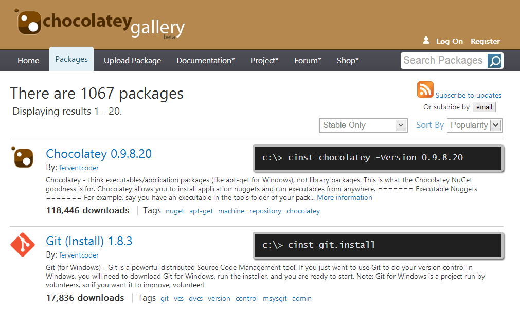 composer how to know package version choose