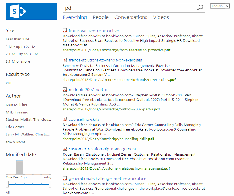 Refiner Count for SharePoint 2013 not visible