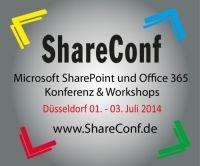 ShareConf: 02. Juli 2014 / 13:45 – 14:45 Uhr