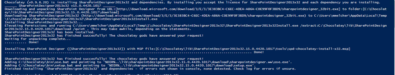 Install SharePoint Designer with PowerShell