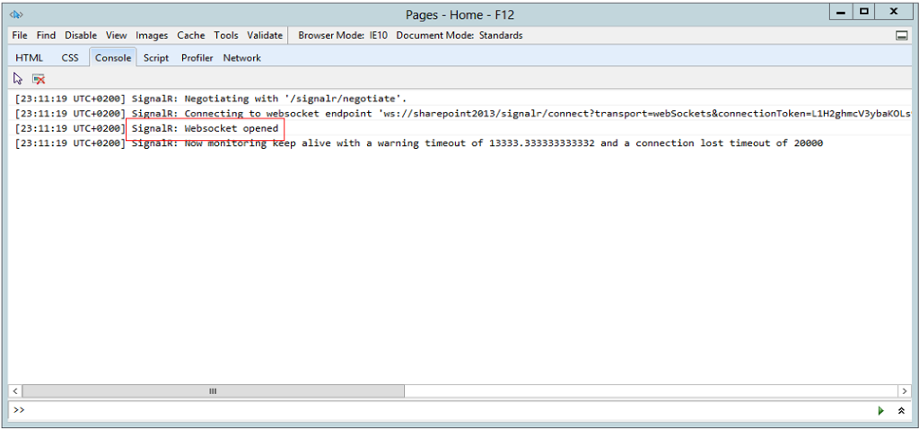 WebSockets, SharePoint 2013 and Signalr - happy coexistence!